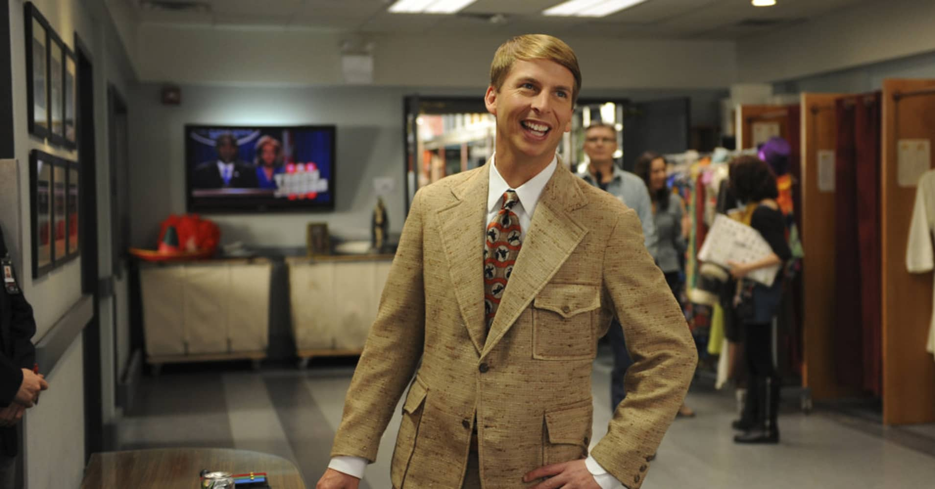 "Kenneth Parcell, character on NBC's ""30 Rock"" played by Jack McBrayer, loves being an intern."