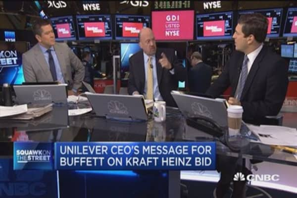 Unilever CEO's message for Buffett