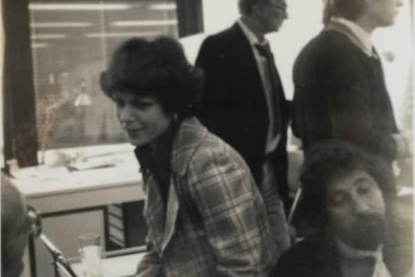 My mom, center, office of McCann Erickson, Frankfurt, Germany, September 1976