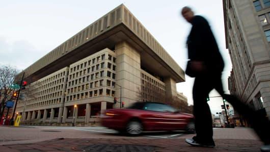 The J. Edgar Hoover FBI Building in Washington, DC.
