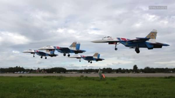 A Russian fighter jet and a US surveillance plane had a close encounter earlier this week