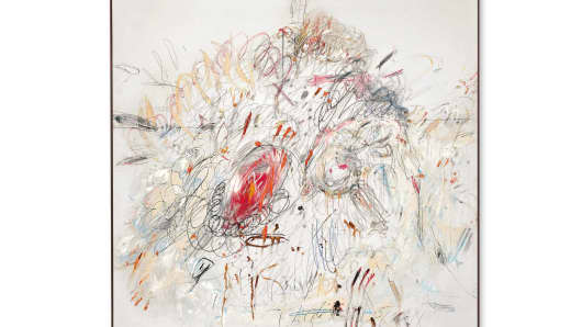 """Leda and the Swan"" by Cy Twombly"