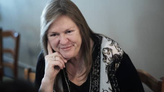 Jane Sanders, wife of Vermont Senator and 2016 Democratic presidential candidate Bernie Sanders.
