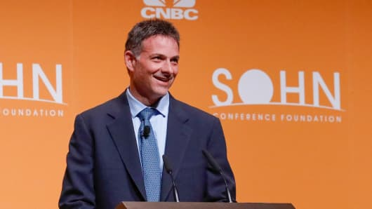 David Einhorn speaking at the 2017 SOHN Conference in New York on May 8th, 2017.