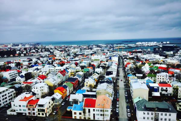 The $9 view from the top of Hallgrímskirkja