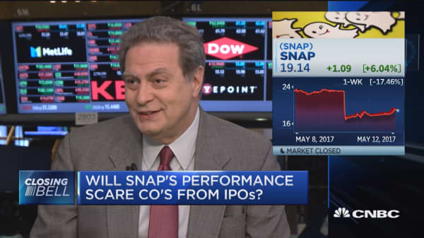 Will Snap's performance scare other companies going public?