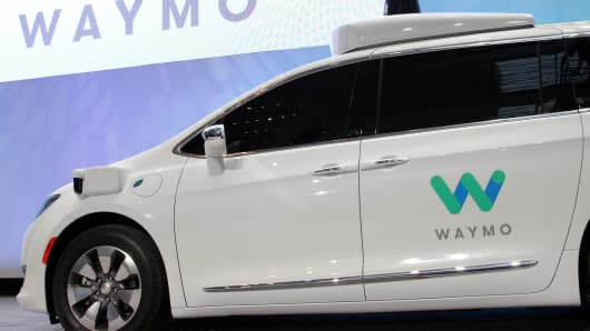 Waymo unveils a self-driving Chrysler Pacifica minivan in Detroit, Michigan, U.S. on January 8, 2017.
