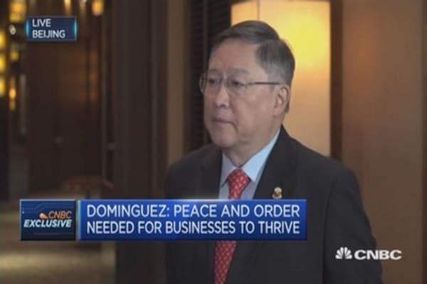 Philippine secretary of finance on South China Sea, China ties