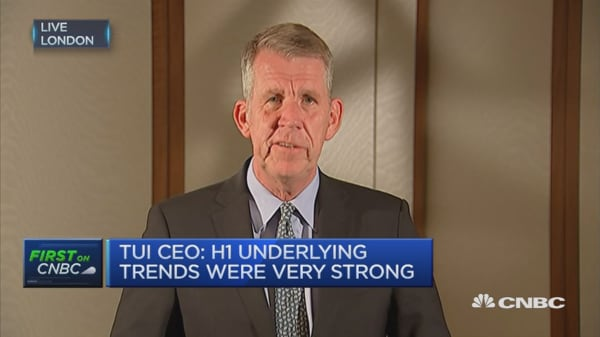 TUI Group CEO: H1 underlying trends were very strong