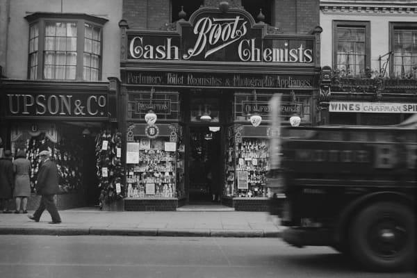 Boots Chemists, England, circa 1935