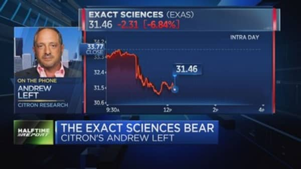 Short seller's bear debate on Exact Sciences