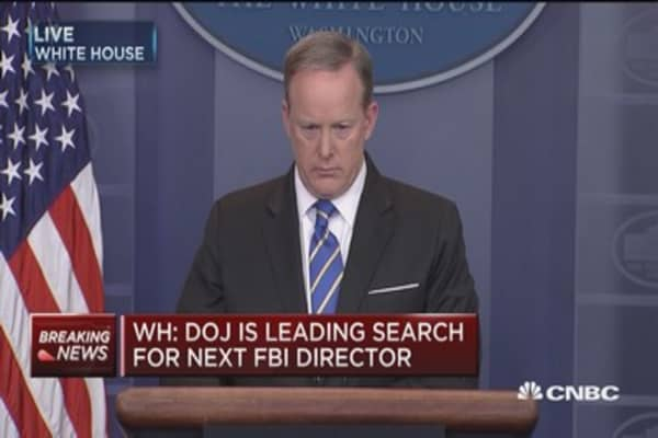 WH: DOJ is leading search for next FBI Director