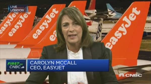 What's behind easyJet's loss, according to the CEO