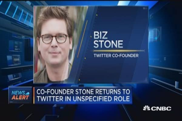 Co-founder returns to Twitter