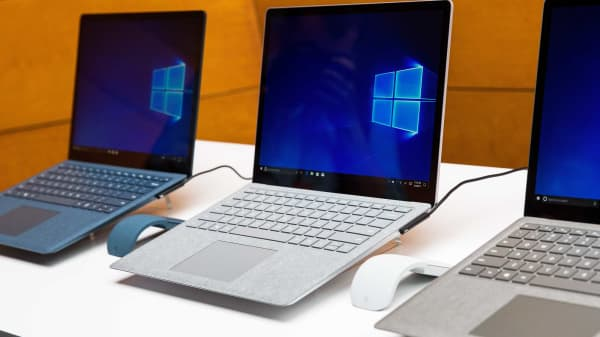 The new Microsoft Surface Laptop with the Windows 10 S operating system, May 2, 2017.