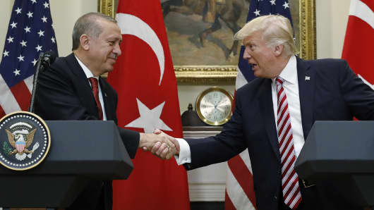 Image result for picture of erdogan and trump