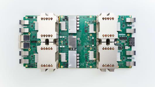 Google's second-generation tensor processing unit (TPU).