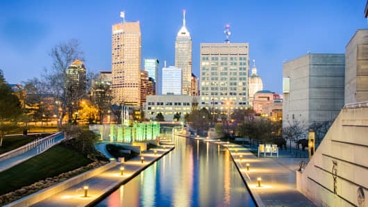 In Indianapolis, the nation's 15th largest city, homeowners need only earn the median area income in order to afford the median priced home.