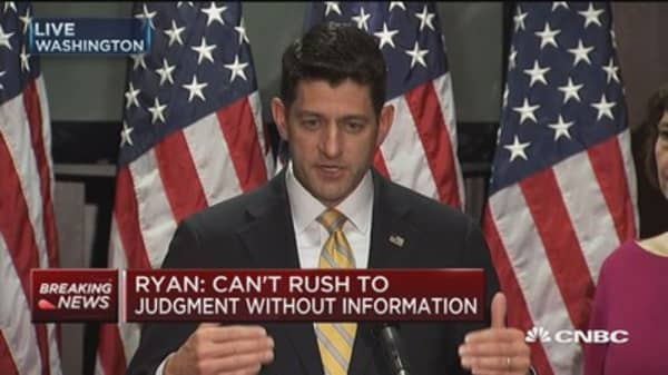 Ryan: There are a lot of politics being played