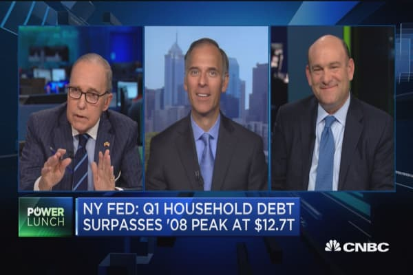 Household debt surpasses 2008 peak: NY fed