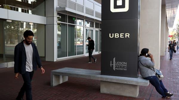 Uber's headquarters in San Francisco, California.