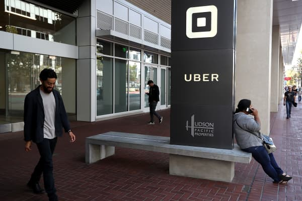 Uber's headquarters in San Francisco, California.