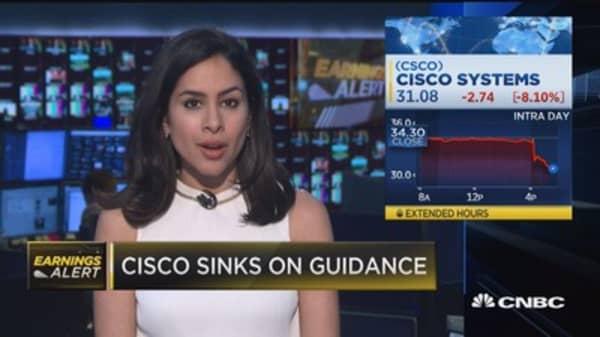 Cisco sinks on guidance