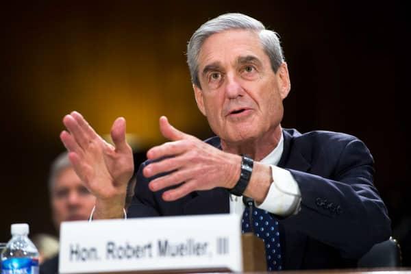 Then-FBI Director Robert Mueller testifies before a Senate Judiciary Committee hearing in 2013.