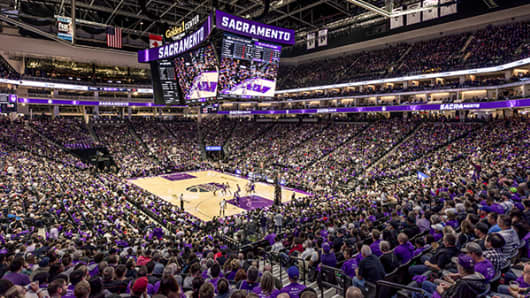 Sacramento Kings owner Vivek Ranadivé describes the new Golden 1 Center as the 'Tesla of sports stadiums.'