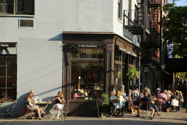 Sidewalk cafe in the West Village