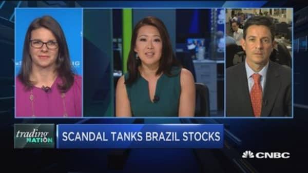 Trading Nation: Scandal tanks Brazil stocks