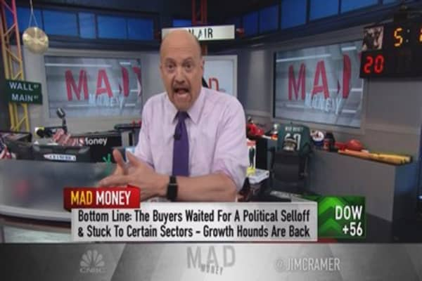 Cramer finds the group where buyers flock after a sell-off