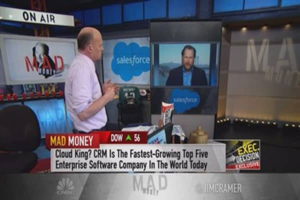 Salesforce CEO Marc Benioff says his company is 'crushing Oracle'