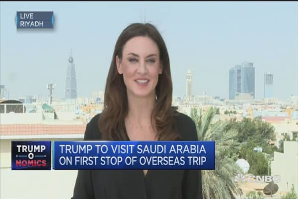 Saudis rolling out the red carpet for President Trump