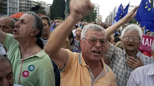 Protesters take to the streets of Athens