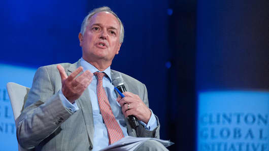 Paul Polman, Chief Executive Officer, Unilever speaks on a 2016 panel in New York City.