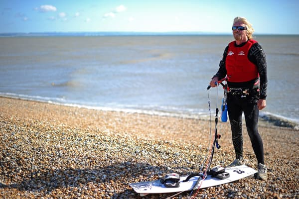 Richard Branson is an avid kite surfer