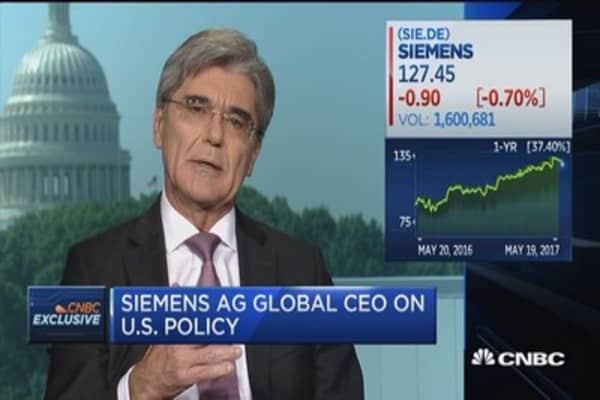 Siemens CEO: It's equally important to train people as well as to retrain them for the future