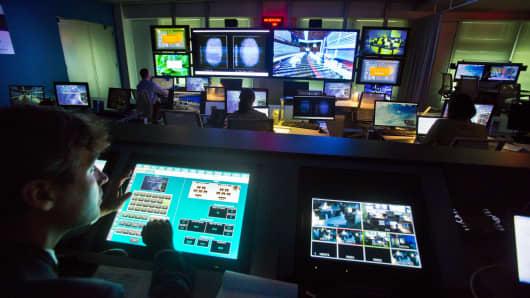 Booz Allen Hamilton's cyber solution facility.