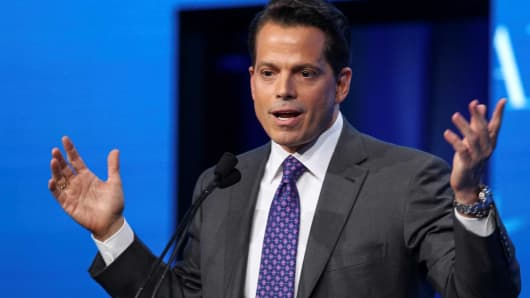 Anthony Scaramucci, Founder and Co-Managing Partner at SkyBridge Capital, speaks during the opening remarks during the SALT conference in Las Vegas, Nevada, May 17, 2017.