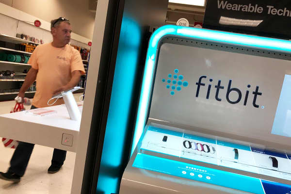 A Fitbit display at a Target store in Los Angeles.