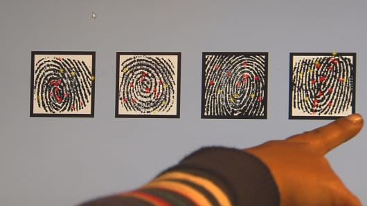 Four of the masterprints that will match many fingerprints, according to N.Y.U. Tandon School of Engineering researchers.