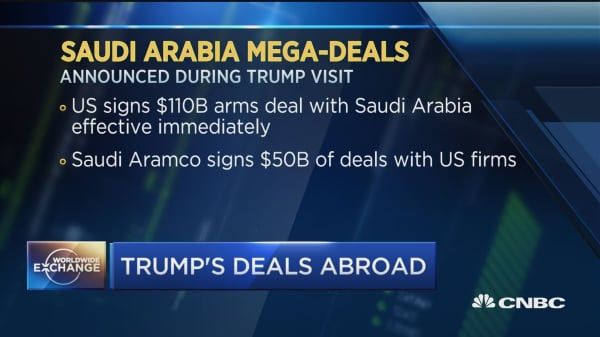 Saudi Arabia welcomes President Trump with billions of dollars in corporate deals