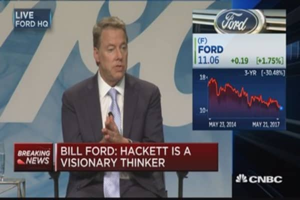 Bill Ford: Hackett will continue to transform company culture