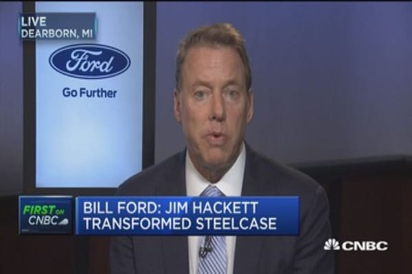 Bill Ford: I didn't fire Mark Fields, he chose to resign after a discussion he and I had Friday