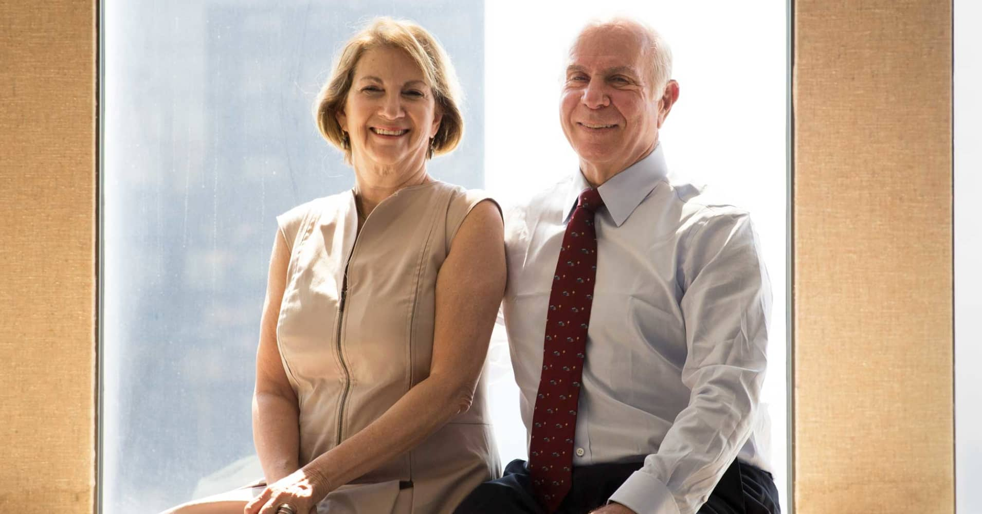 Ron Weiner and his wife Vicki, who are both members of Tiger 21, an investment club for people with more than $10 million, in New York, May 18, 2017.