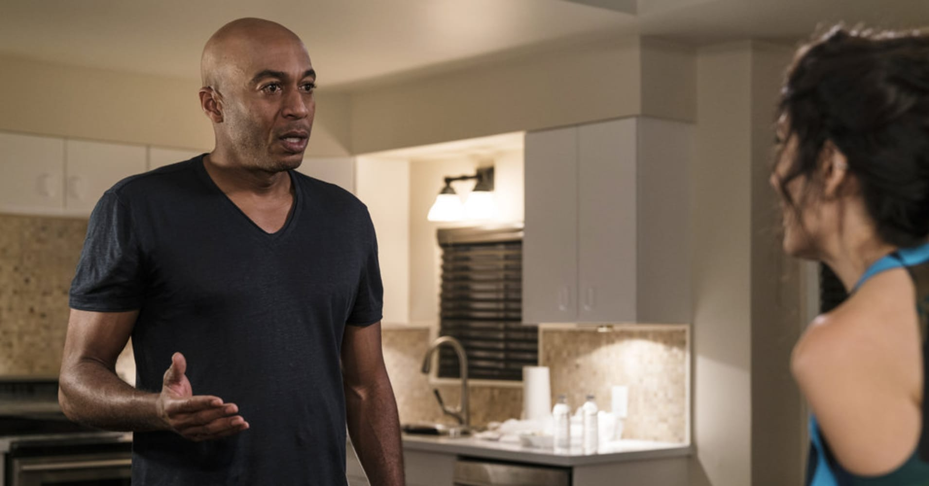 "From the television series ""Girlfriends' Guide to Divorce."" Pictured: James Lesure as Coach Mike."