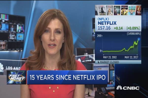 Netflix shares surge 15,000% since IPO 15 years ago