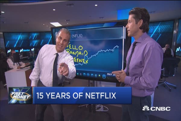 Go chart yourself! Traders go head to head over Netflix
