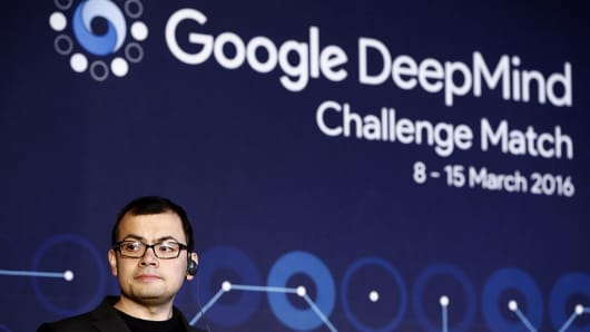 Demis Hassabis, co-founder of Google's artificial intelligence (AI) startup DeepMind.